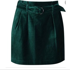 Cremieux Velour Belted Mini Skirt Size 4